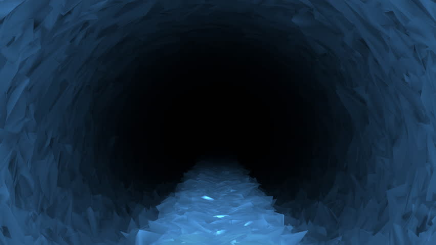 Animated walk along raised ice path through endless ice cave, rendered natively in 4k. #31219261
