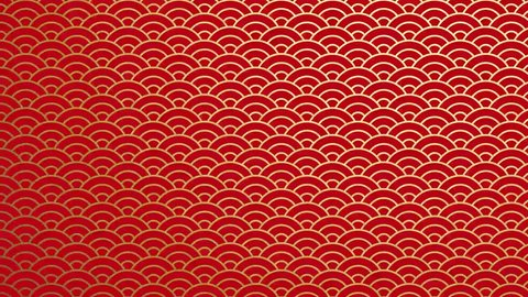 Traditional Japanese red texture. Chinese Seas Loop Pattern.