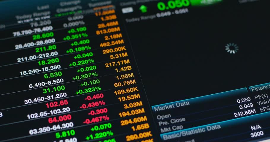 Using digital tablet with stock market data information  | Shutterstock HD Video #31282759