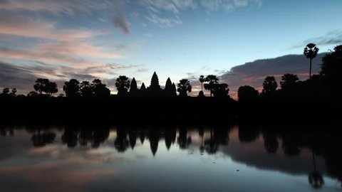 Timelapse of Angkor Wat sunrise in Siem Reap Cambodia