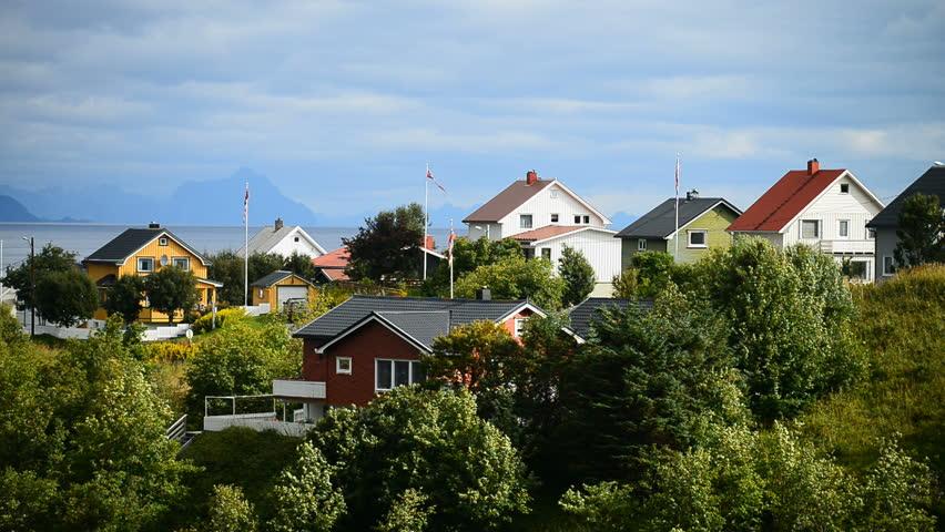 Lofoten Islands, Reine, Moskenes, Scandinavia, Norway, Europe.