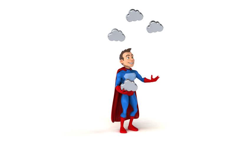Fun superhero - 3D Animation   Shutterstock HD Video #31322191
