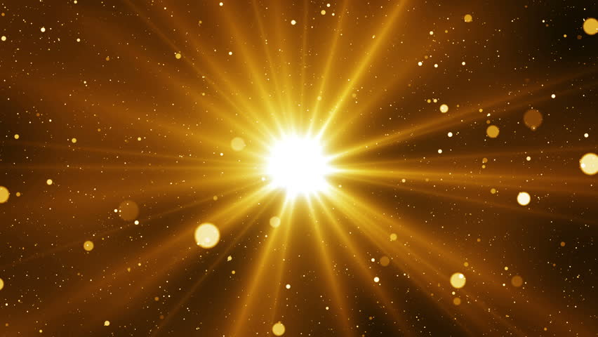 Golden sparks abstract background with light from center. Seamless loop. | Shutterstock HD Video #31361401