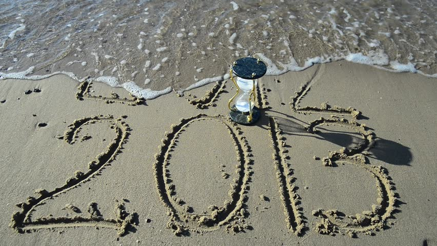 2013 year is coming on a sand beach of Eilat, Israel    Shutterstock HD Video #3144061