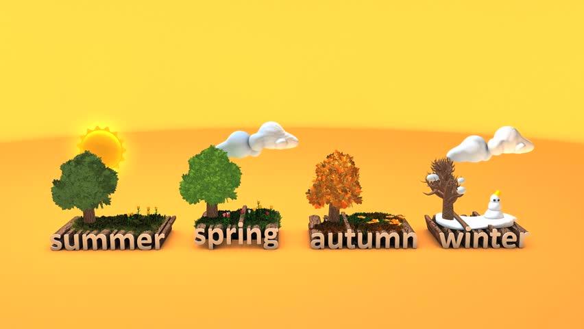 4 Seasons concept animation.