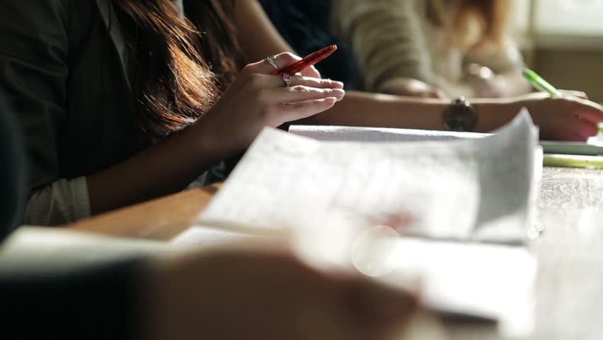 Schoolgirls learn at lecture | Shutterstock HD Video #3147190