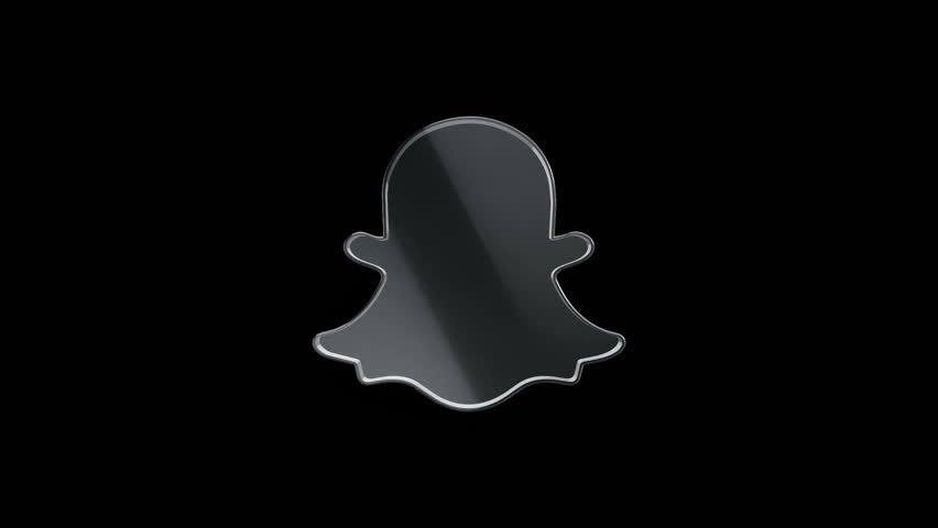 Editorial animation 3d rotation of symbol of snapchat logo from editorial animation 3d rotation of symbol of snapchat logo from glass animation of seamless ccuart Gallery
