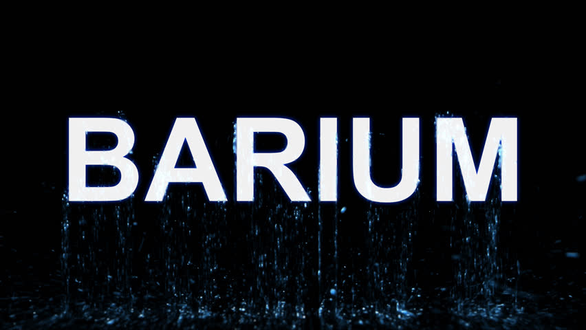 Name BARIUM appears from the water, then disappears. Transparent alpha channel. 3D rendering | Shutterstock HD Video #31535731