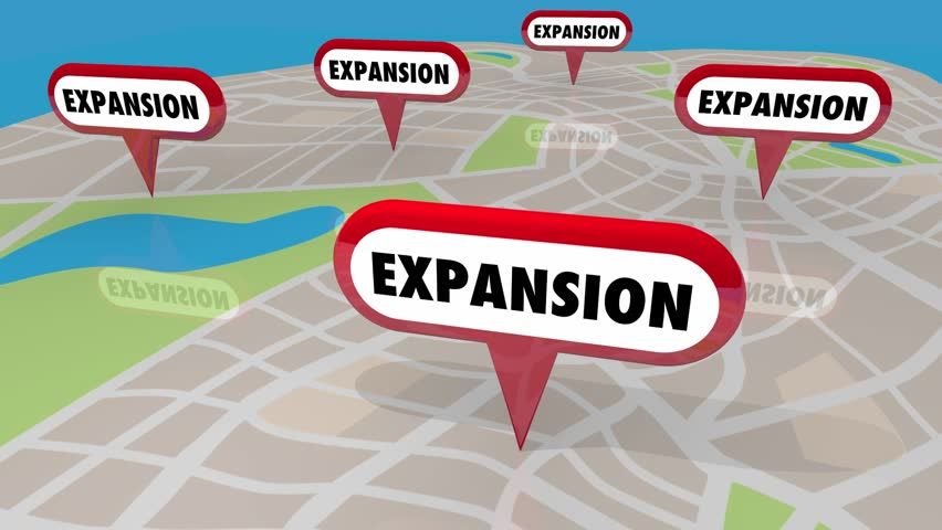 Expansion New Locations Map Pins Opening More 3d Animation