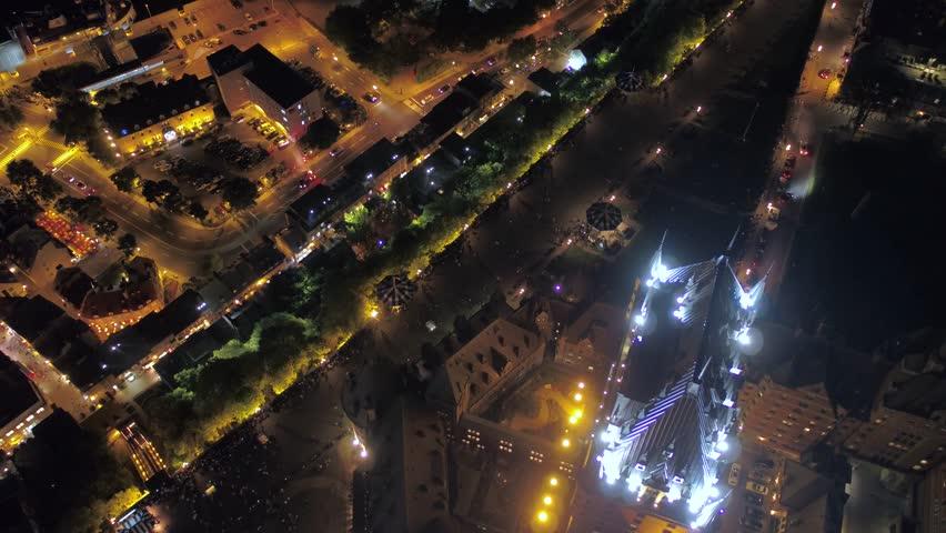 Aerial Canada Quebec City July 2017 Night 4K Inspire 2 | Shutterstock HD Video #31634071