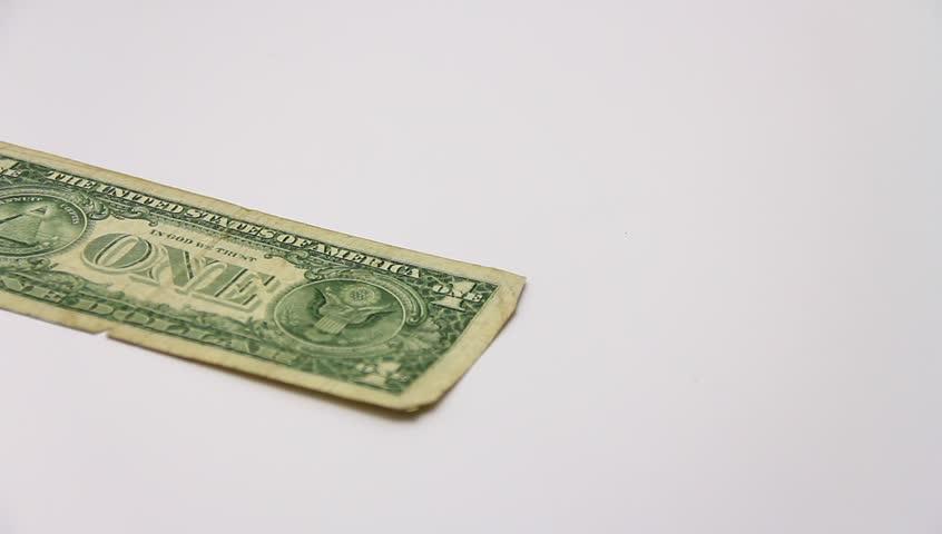 Paper money on white background. | Shutterstock HD Video #3163561