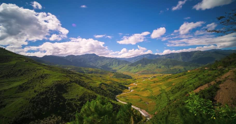 4k Time lapse and hyperlapse video Rice field in Mu CANG CHAI valley, YEN BAI, Vietnam | Shutterstock HD Video #31667077