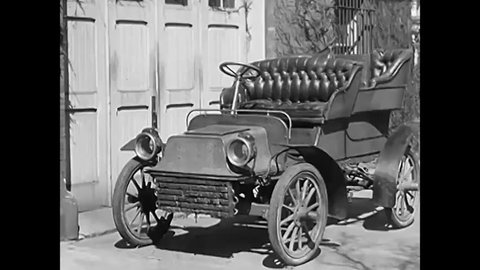 CIRCA 1930s - With the invention of the automobile, spring and tire design evolved for easier driving, and in 1934 a new spring design was engineered to balance the front and rear of the car.