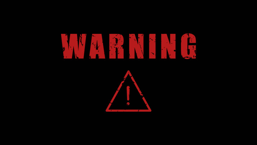 Warning Exclamation Mark Flashing. Motion Graphics. Transparent Background.