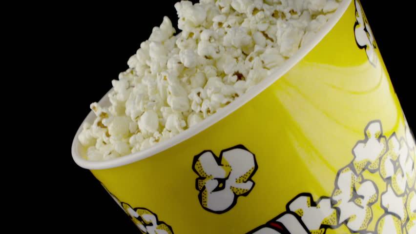 Popcorn falling slow motion
