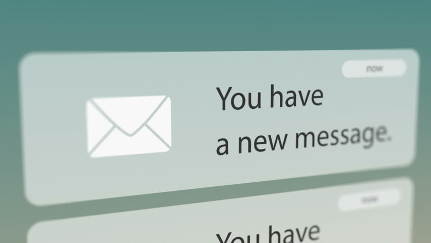 Close Up Shot of New Message Notification on Smart Phone. Seamless Loops. | Shutterstock HD Video #31709086