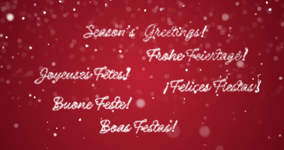 Merry christmas message in englishgermanfrenchspanishitalian looping seasons greetings message in englishgermanfrenchspanish italianportuguese m4hsunfo