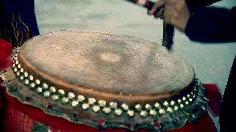 lion dance drum