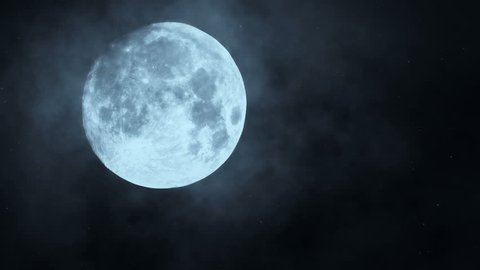 Full moon night sky. moon time lapse. moon light. clouds and moon ,beautiful nightly spooky seamless loop background