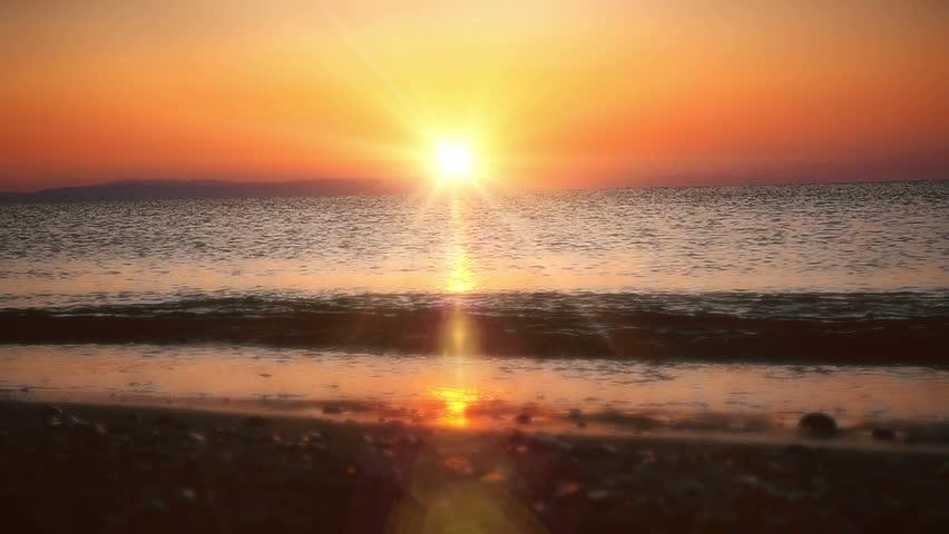 Sunrise wave sea slow motion | Shutterstock HD Video #31786231