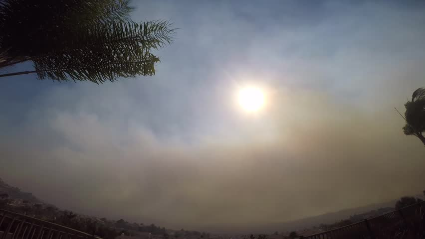 Time lapse of recent California fire called Canyon Fire 2 wildfire in Anaheim Hills. Approximately 1 hour shortened to twenty eight seconds. Taken during extremely gusty Santa Ana winds.