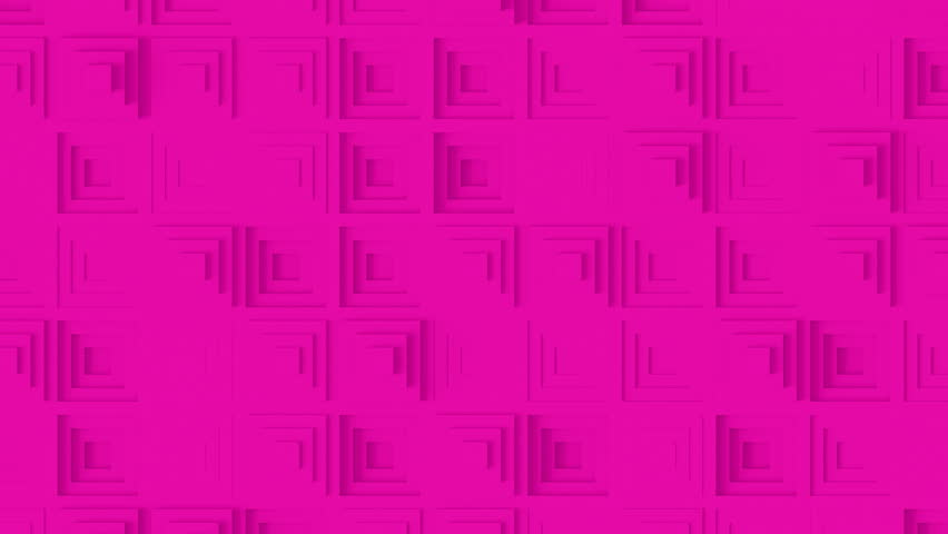 Abstract Pyramid Pattern Loop 1E: pink clean minimal square step pyramid grid pattern, random in out waving motion background canvas in pink magenta lilac mauve lavender. Seamless loop 4K UHD FullHD. | Shutterstock HD Video #31850101