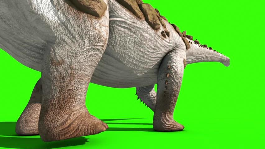 Dinosaur Titanosaur Walks Beck Green Screen 3D Rendering Animation Jurassic World