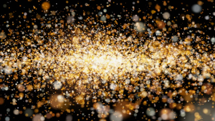 beautiful animation flying shiny glitter flickering particles on a black background alpha channel