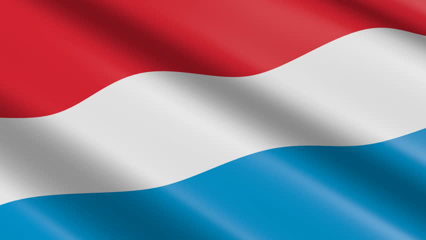 Flag of Luxembourg (seamless loop)