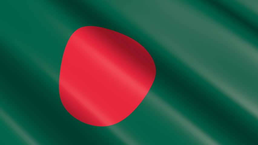 Flag of Bangladesh (seamless loop)