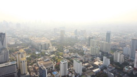360 degree view of Bangkok, Thailand from high angle