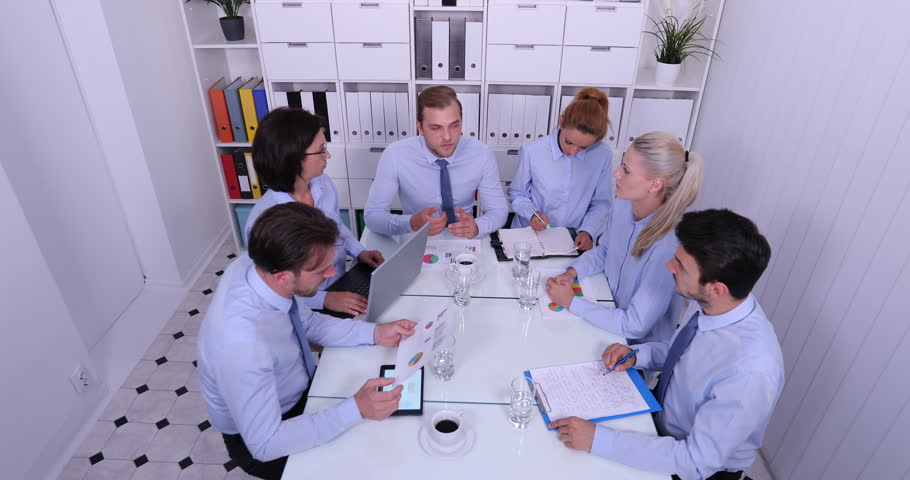 Group of Business People Collaboration in Conference Committee Expertise Staff   Shutterstock HD Video #32076631
