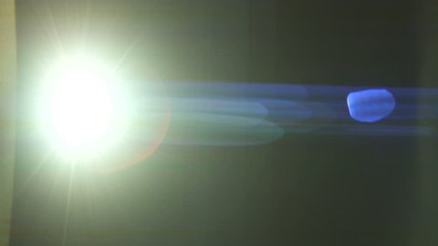 The warm light on the dark background. anamorphic lens flare