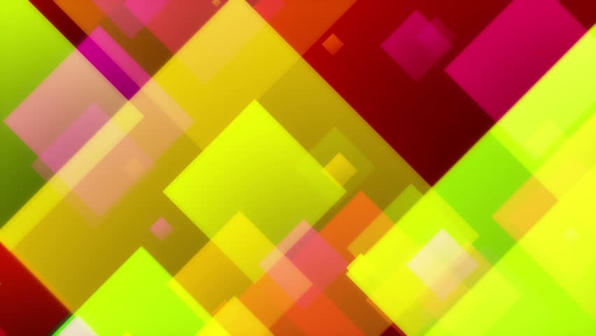 Squandal - Colorful Abstract Video Background Loop /// Colored squares in a fly-through scene form a nice video background.