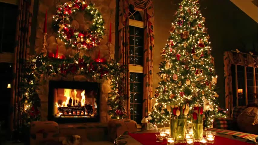 marvellous lovely domestic romantic cosy atmosphere festive christmas tree new year eve noel fireplace light interior - Classic Christmas Trees