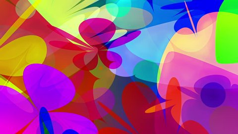 PowerFlowers - Colorful Video Background Loop /// Colorful simplistic blossoms form the every hippie's favorite video loop: Powerflowers! Great for every kind of 60s/70s event.