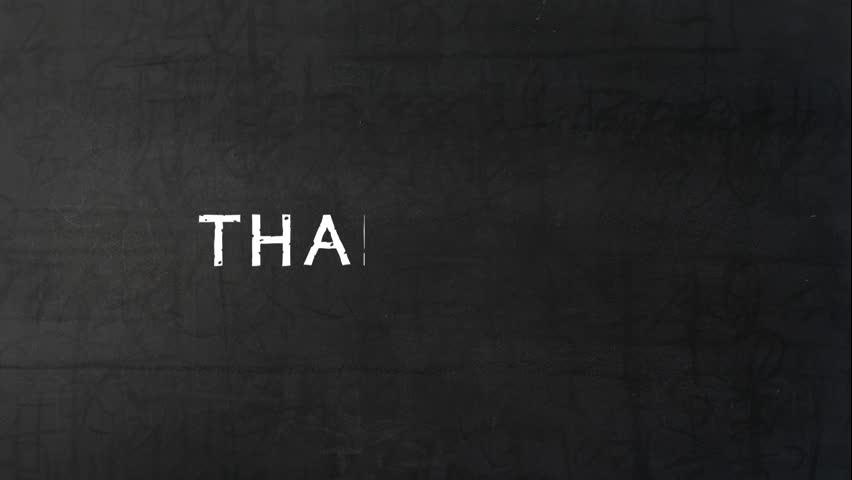 Animated THANK YOU on black chalkboard   | Shutterstock HD Video #32168941