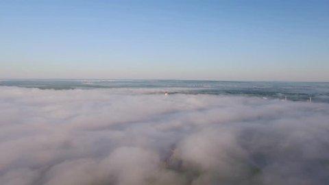 Lala Tulpan in fog - mosque in Ufa, Russia