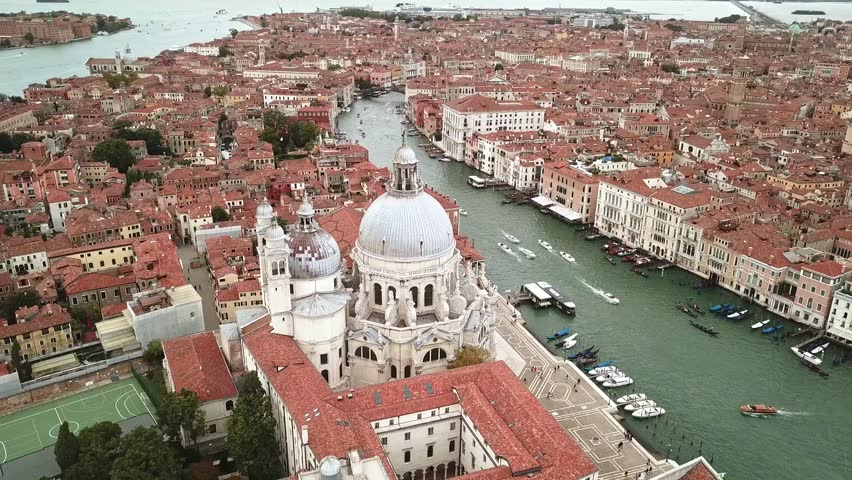 Drone video - Aerial view of Venice Italy