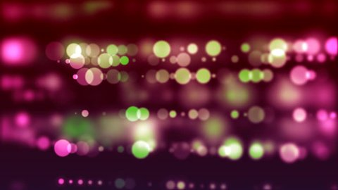 Horizontal colorful lines of shiny blurred bokeh lights - HD animated motion background loop