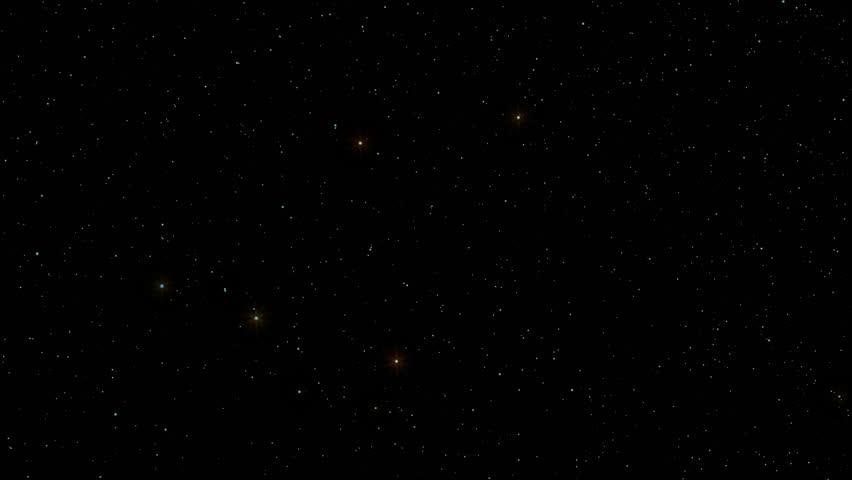 Night Sky 001: A star field twinkles in a night sky (Loop).