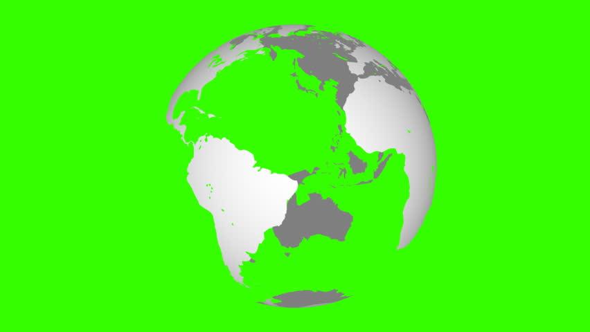 Globe Green Screen, Seamless Looping