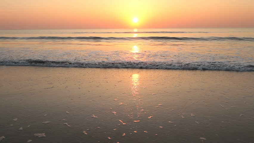 Sunrise, beach on Atlantic Ocean, NE Florida (Anastasia State Park, St. Augustine)
