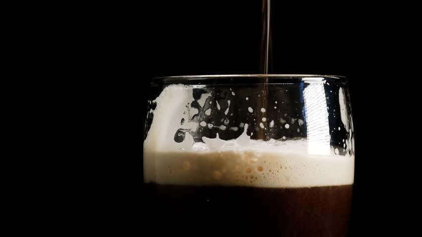 A pint of dark beer