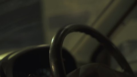 woman using smart phones while driving at night ,Driving at high speed