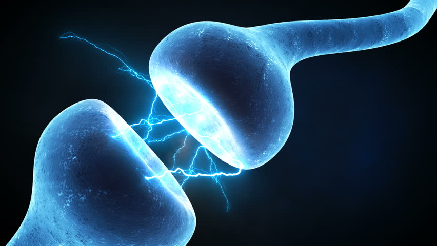 Neuron synapse zoom in Neurons in action. electrical impulses between neuronal connections. | Shutterstock HD Video #32322991