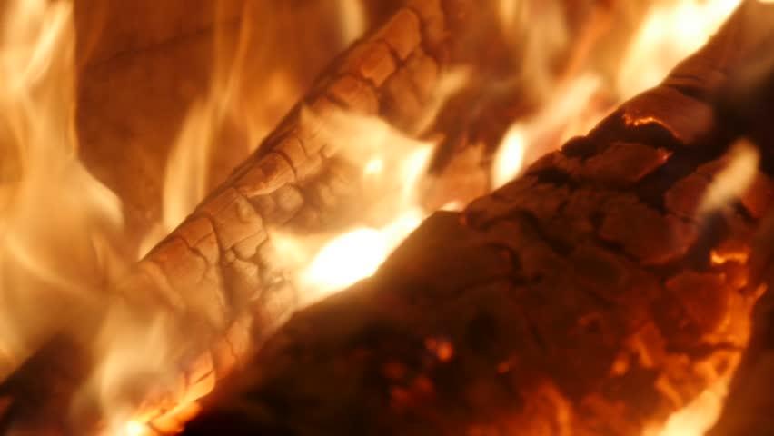 Slow motion of burning firewood, Closeup, Full HD footage | Shutterstock HD Video #32326561