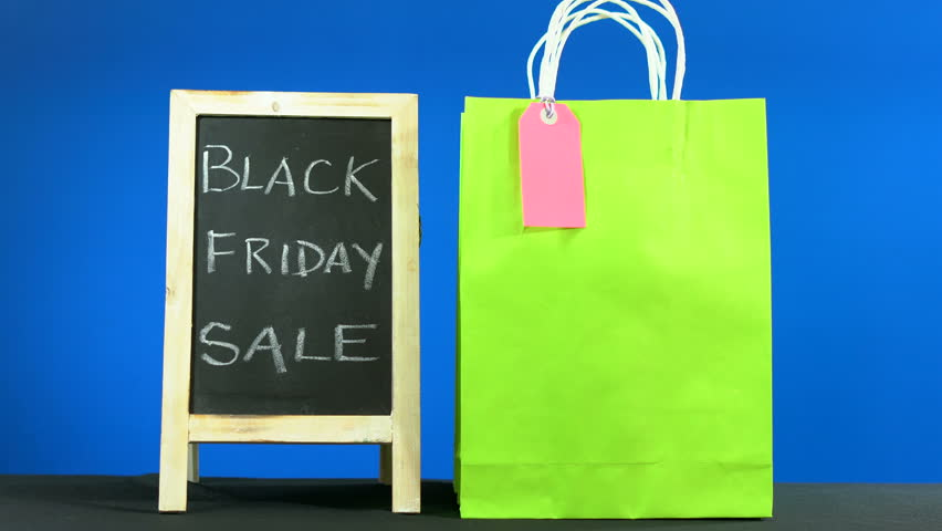 Black Friday and retail sales concept against chroma key background. | Shutterstock HD Video #32329291