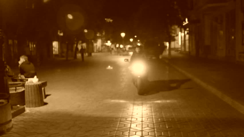 Biker saying goodbye to a woman he loves. Sepia toned image. True romance.   Shutterstock HD Video #3239281