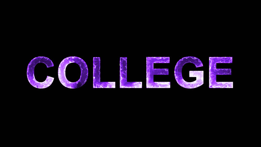 Luminous and shimmering haze inside the letters of the word COLLEGE. Transparent, Alpha channel | Shutterstock HD Video #32447611